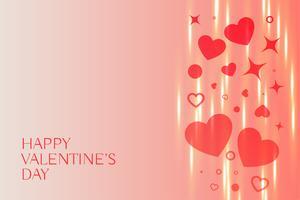 härlig lycklig valentines dag hjärtan bakgrund