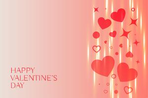 lovely happy valentines day hearts background