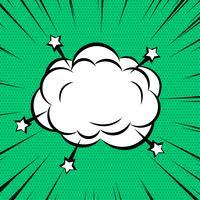 Comic Wolke oder Rauch auf Zoom Linien Hintergrund