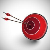Arrow and a dartboard, vector