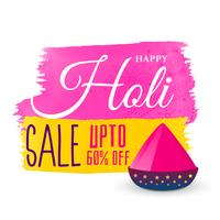 happy holi festival sale background