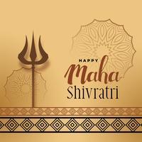 cumprimento do festival para o shivratri do maha com trishul