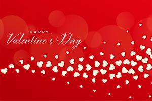 vacker röd valentinsdag bakgrund med flytande hjärtan