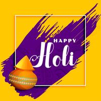 happy holi celebration greeting background design