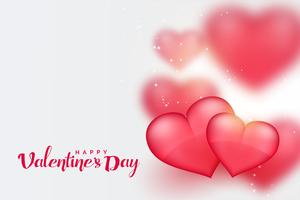 beautiful pink 3d hearts valentines day background