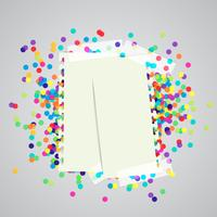 A paper label and colorful dots, vector