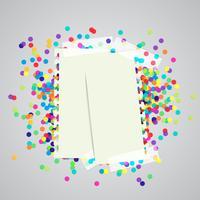 Una etiqueta de papel y puntos de colores, vector