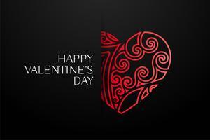 elegant röd dekorativa hjärtan bakgrund