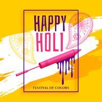 creative happy holi festival greeting background