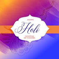 happy holi festival colorful decorative poster design