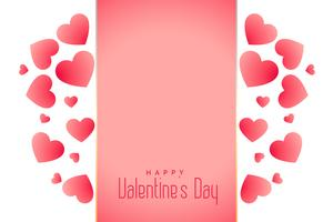 beautiful hearts valentines day background with text space