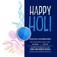 happy holi party celebration decoration background