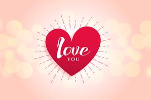 beautiful love heart background design