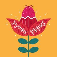 Joyeuses Pâques Typografie-Vektor