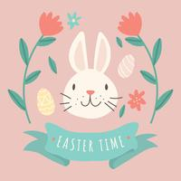 Bunny In A Easter Background