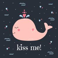 Embrasse-moi vecteur