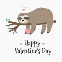 Sloth Love Vector