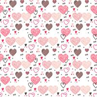 Valentine Hearts Vector Pattern