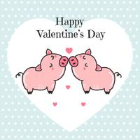 Pigs Couple Vector