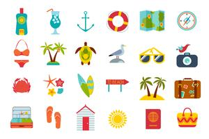 Set of summer icons.
