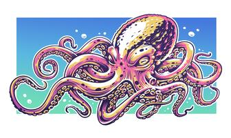 Pulpo Graffiti arte vectorial