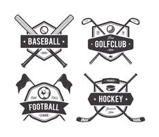 Emblemi di vettore di sport