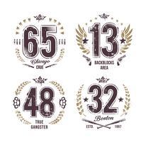 Grunge Numbers vector