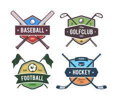 Emblemas vectoriales de deporte