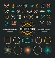 Elementos de diseño de Hipster