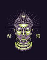 Impression de Bouddha de vecteur
