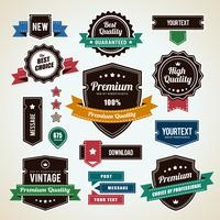 Set van vintage badges