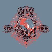 Estampado de cráneo de grunge