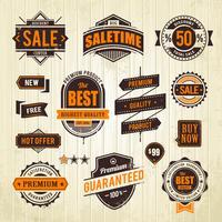 Grunge Verkauf Embleme