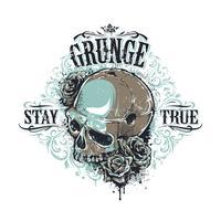 Grunge skull print
