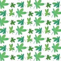 Cute Green Clover Pattern