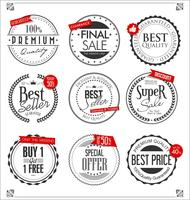 Retro badges en labels-collectie