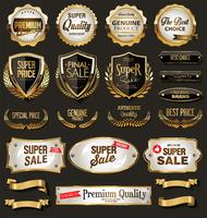 premium quality golden badges and labels