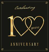 Elegant black and gold anniversary background