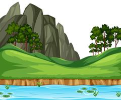 Nature river landscape background
