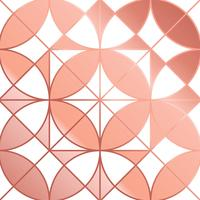Geomtric Rose Gold Background Vector astratto