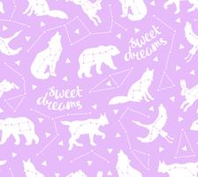 Seamless pattern with star animals