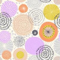Patrón transparente de vector con texturas de círculo de tinta