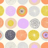 Vector seamless pattern with ink circle textures