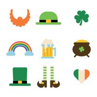 Set Of Flat St Patrick's Icons