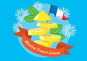 Menton France Citron Festival Illustration