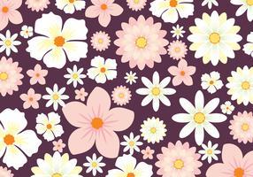 Blommig bakgrundsvektor