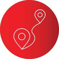 Steigungslinie Kreis-perfekter Ikonen-Vektor oder Pigtogram Illustration