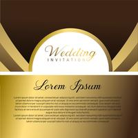 Wedding Invitation Card With Text Place vector