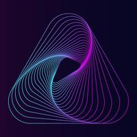 Abstract dynamic line triangle element