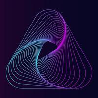 Abstract dynamisch lijndriehoekselement